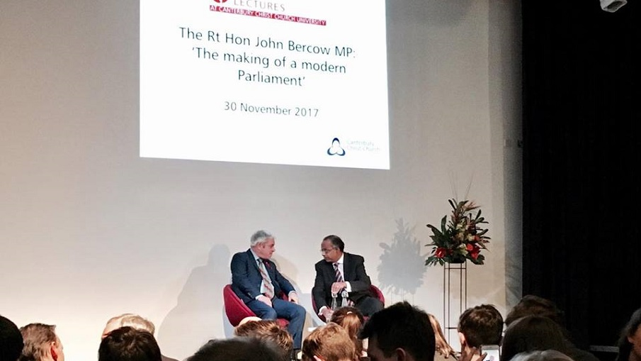 12 Things We Learnt From John Bercow's Lecture at CCCU