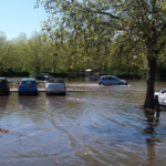 Buoy Oh Buoy! Stour river floods Sainsbury's Car Park