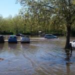 Buoy Oh Buoy! Stour river floods Sainsbury's Car Park